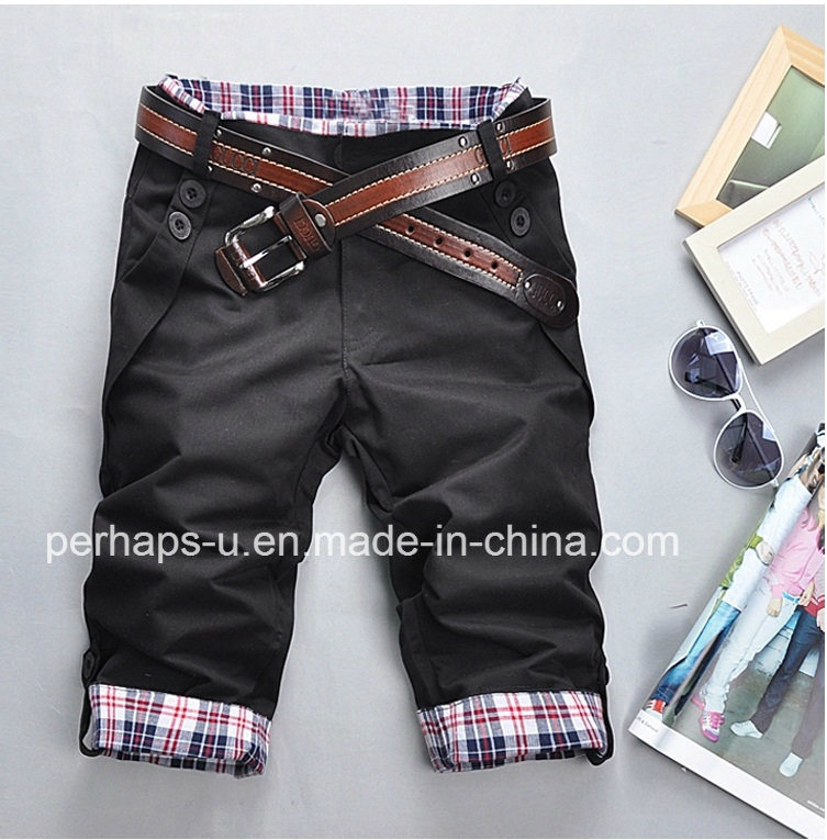 Fashion Mens Print Chinos Shorts