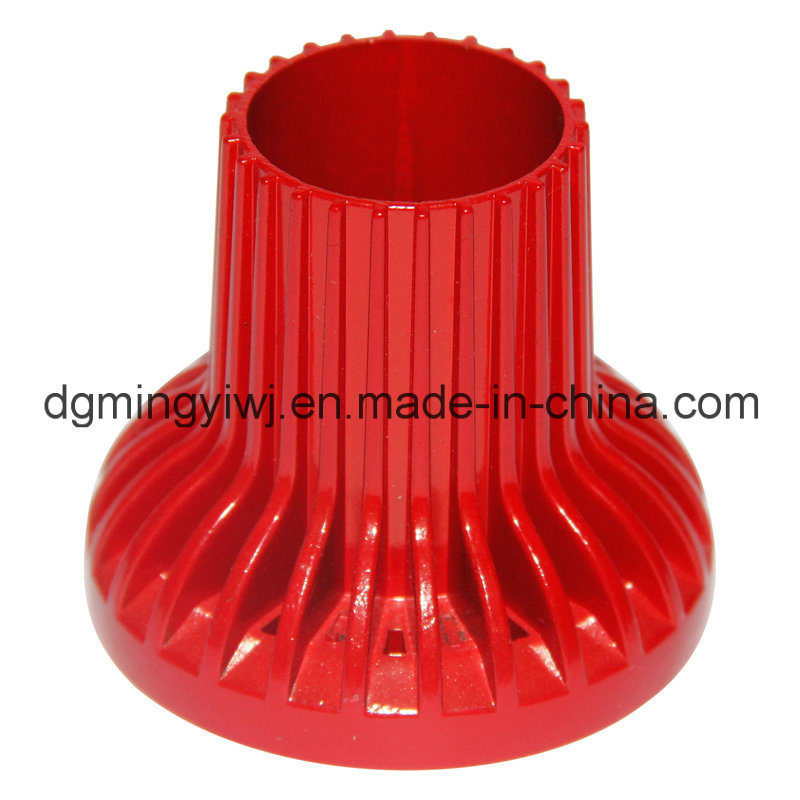 Customized Aluminum Die Casting for LED Lighting Parts with Colorful Surface Made by Mingyi