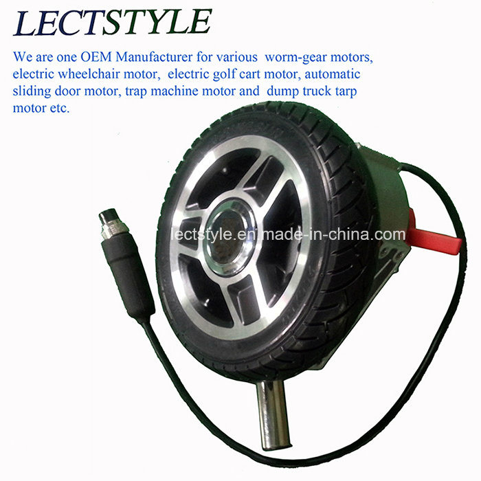 8 Inch Brushless Geared Wheelchair Hub Motor with Electro Magentic Brake & Joystick Lever