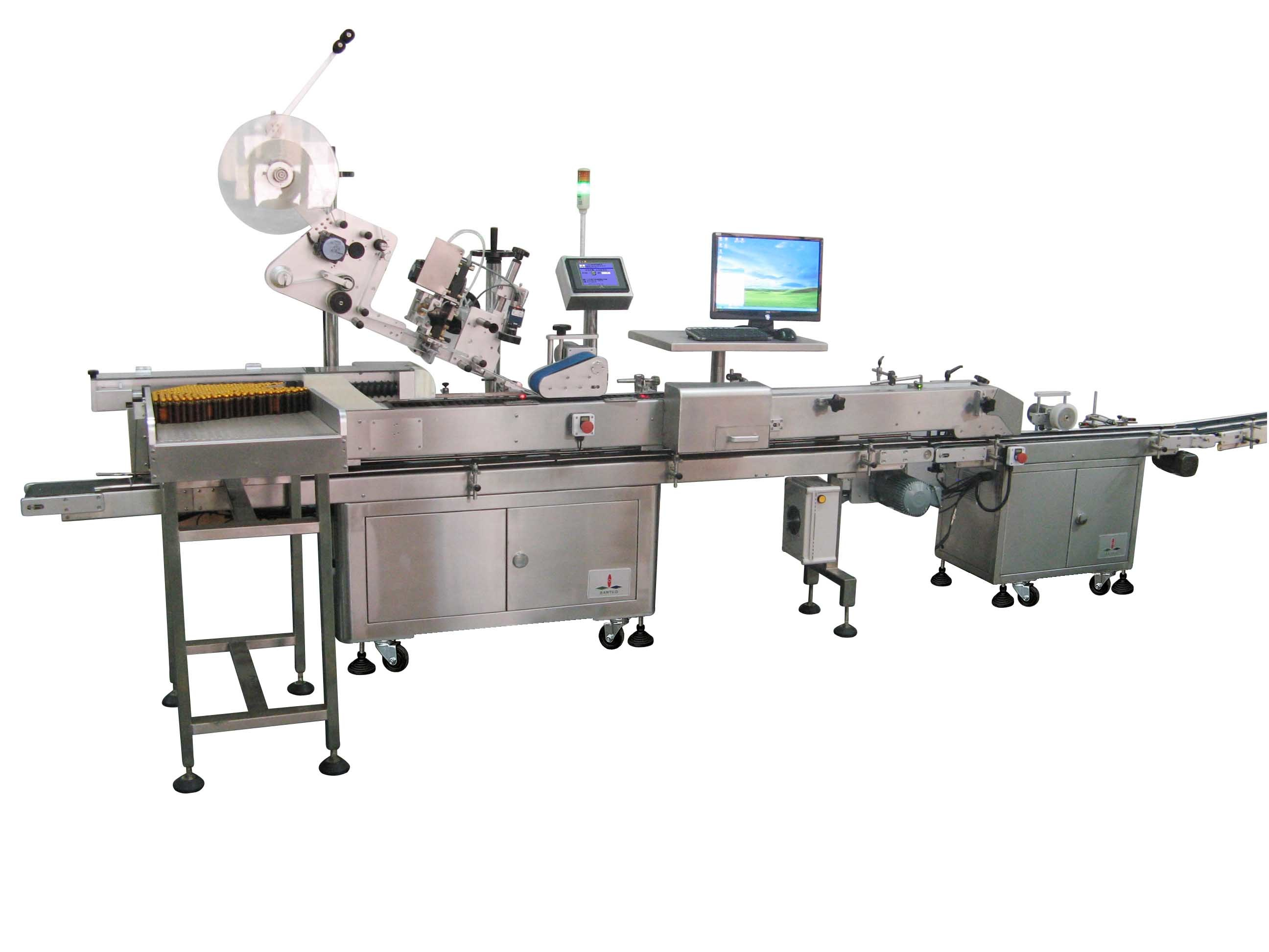 Labeling with Tray Separator and Bottle-to-Tray Inserter Machine