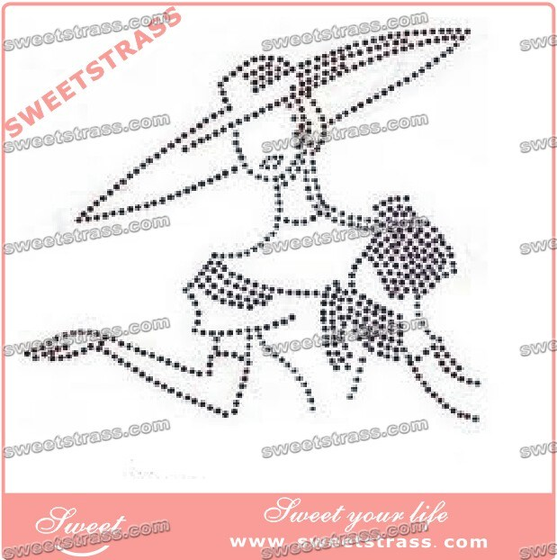 Accept Customized Rhinestone Transfer Design for Garment