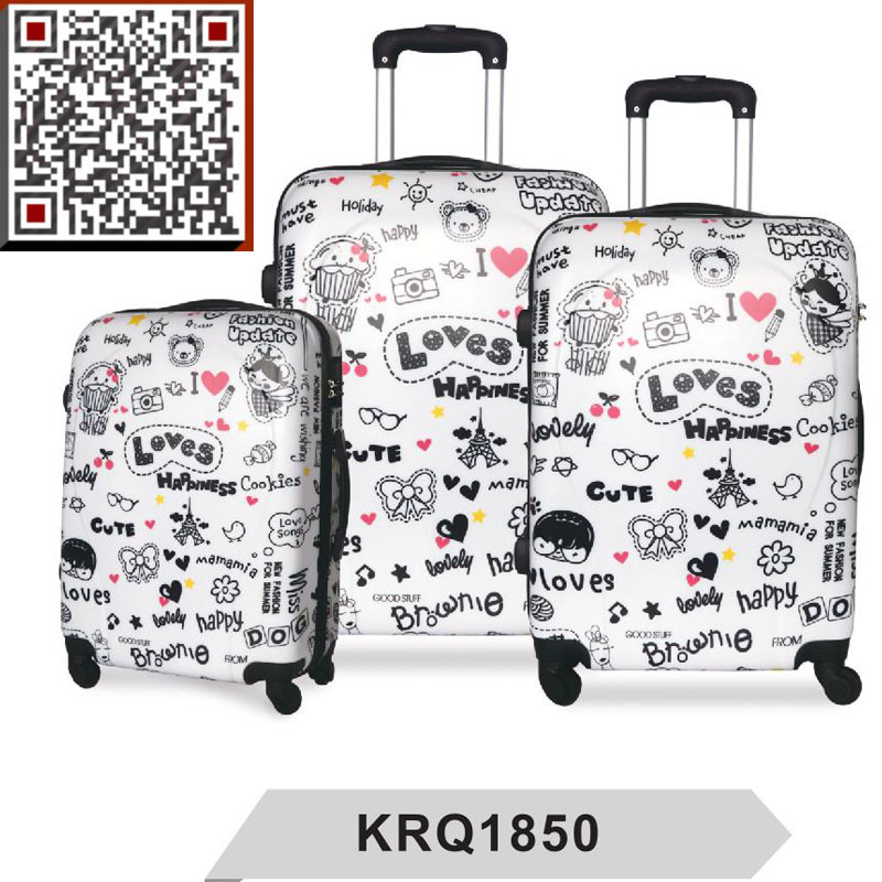 100% New ABS PC Printing Hard Shell Luggage