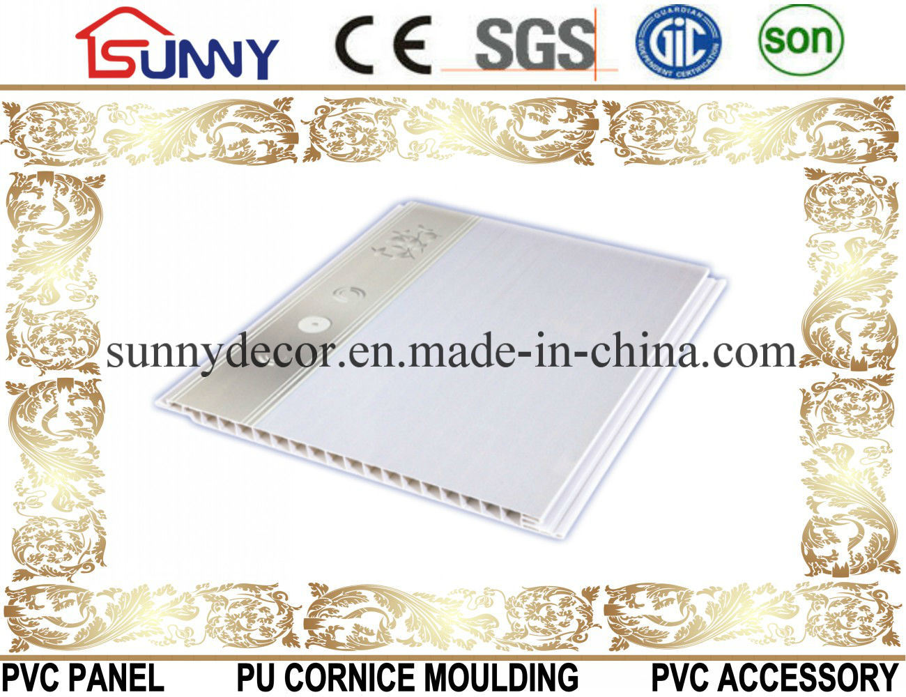 2016 Hot Stamping PVC Wall-PVC Ceiling Panel for Decoration