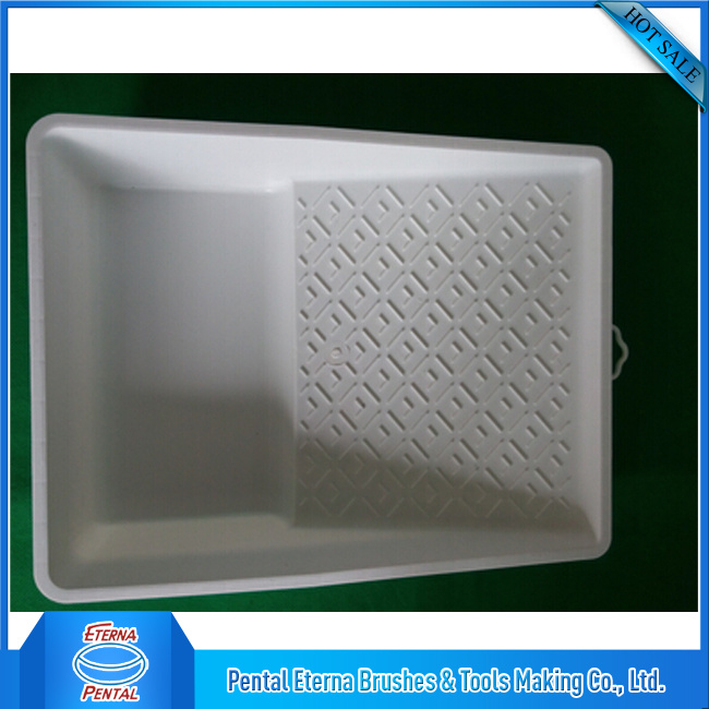 "7"" White Virgin Material Paint Tray"