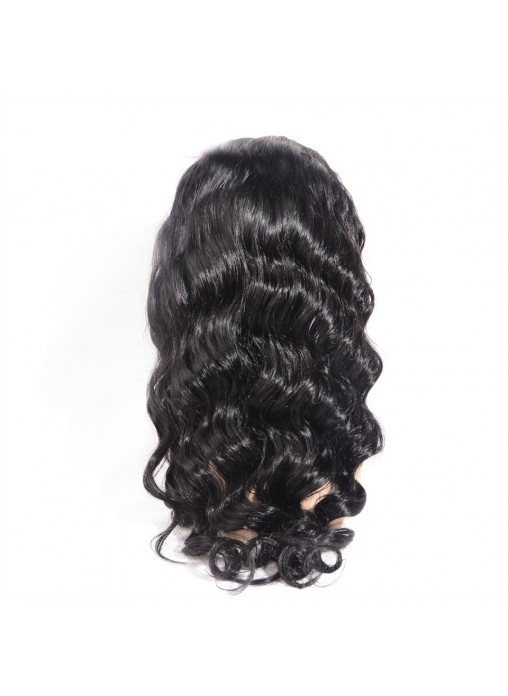 Natural Color Body Wave Peruvian Virgin Human Hair Glueless Silk Top Full Lace Wigs with Baby Hair