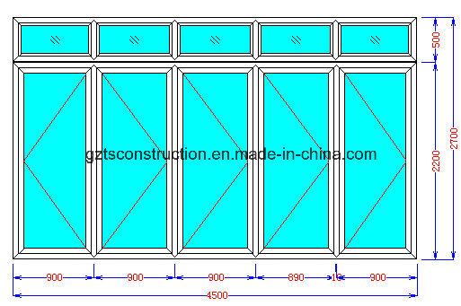 Double Glazing Aluminium Bifold Door / Double Glazed Aluminum Folding Door