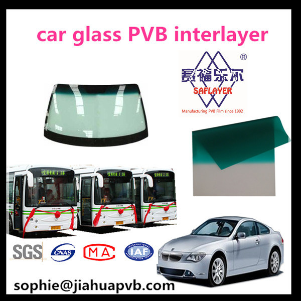 Color 0.76mm PVB Interlayer for Car Windshield