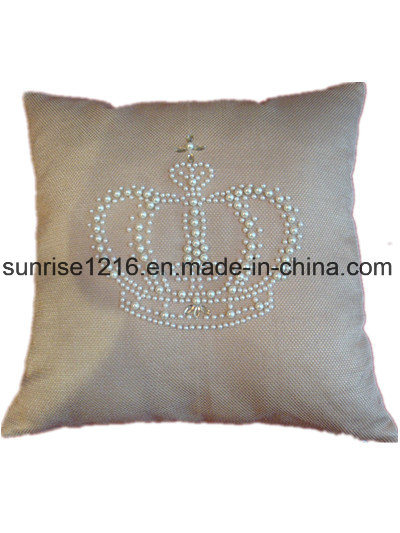 Decorative Cushion Sr-C170213-12 High Fashion Pearled Crown Cushion