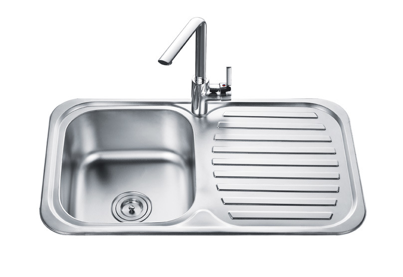 Drainboard Kitchen Sink : China Single Bowl With Drainboard (OD-8248A) - China Kitchen Sink, Top ...