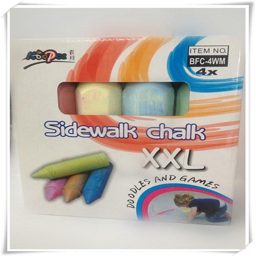 4 PCS Jumbo Sidewalk Chalk for Promotion