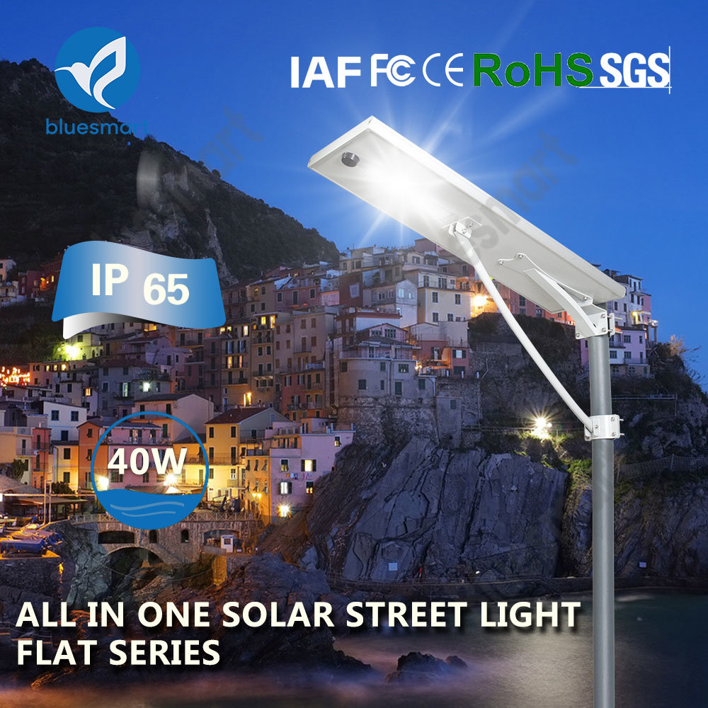 Classical Outdoor Lighting Solar Light 40W All in One Solar Street Light