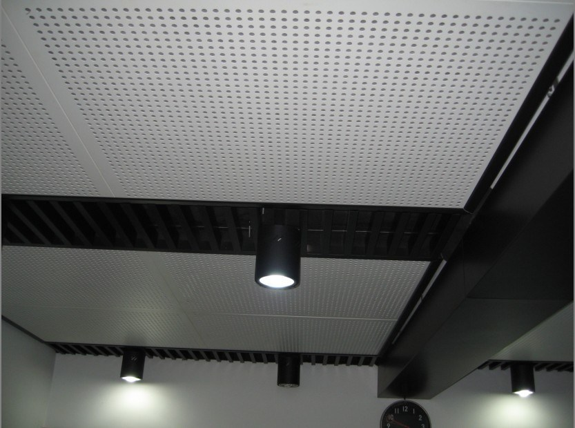 China false acoustic ceiling tiles photos pictures - Panel perforado blanco ...