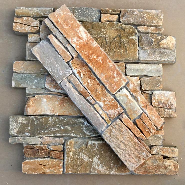 China Natural Blue Quartzite Cement Wall Panel