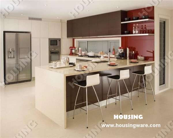 China Modern Laminated Mdf Kitchen Cabinet Photos