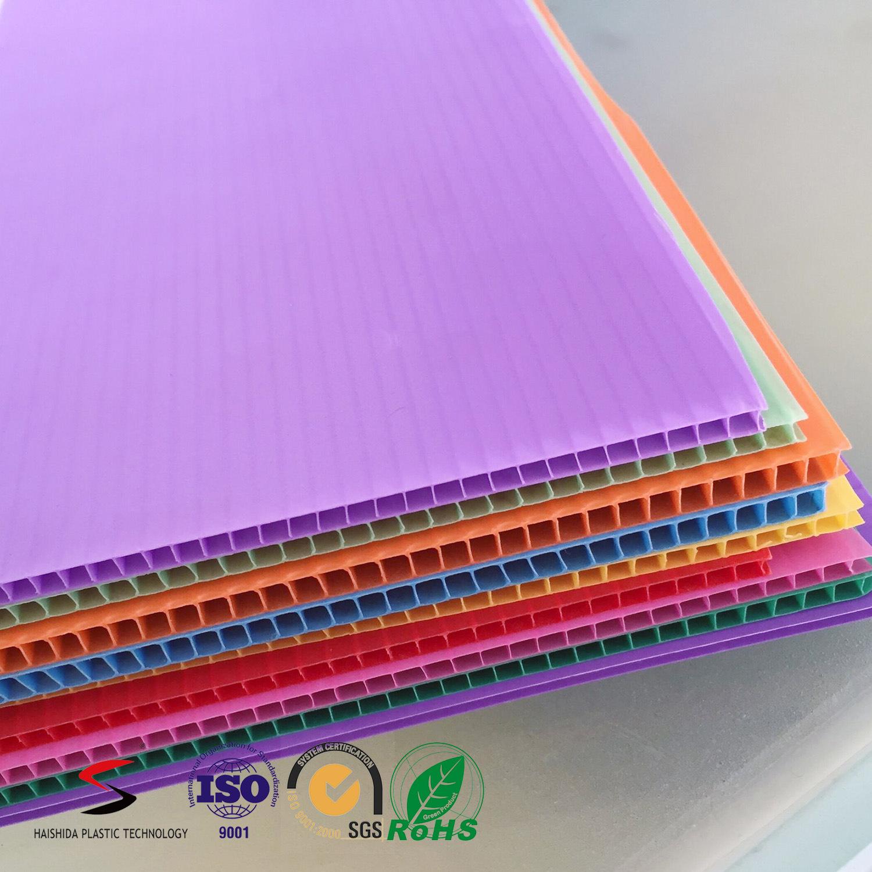 3mm Polypropylene PP Twin Wall Corrugated Plastic Sheet/ Board