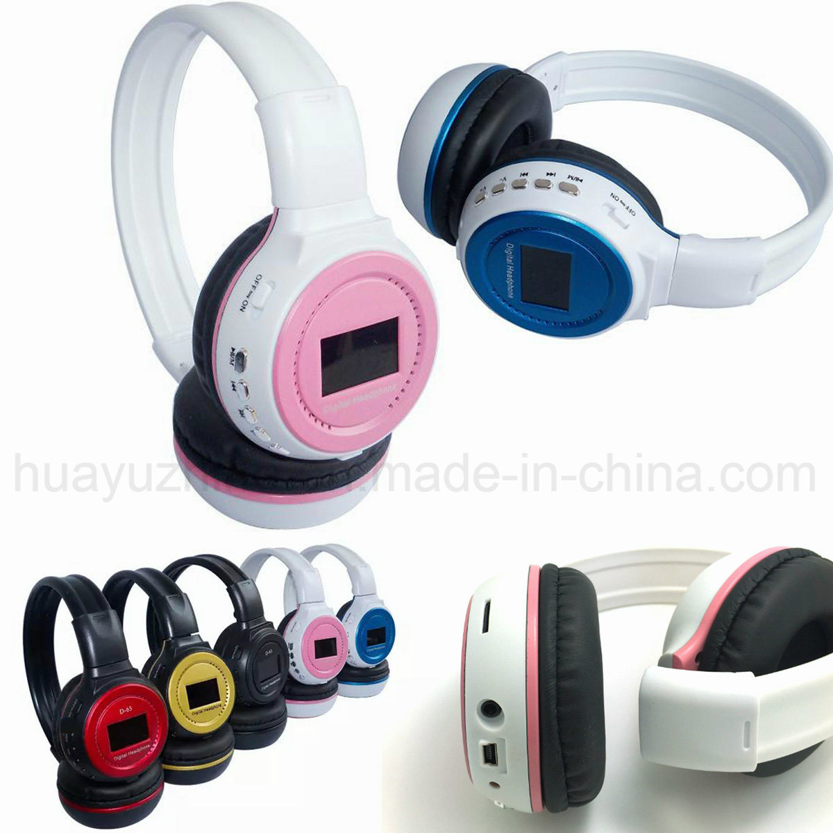 Hot Selling Bluetooth Stereo Headphone with FM Support Micro SD