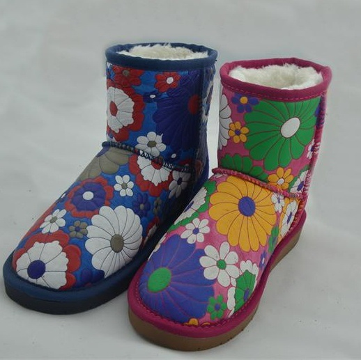 Lady Fashion Leathr Warm Snow Boots (FB-80515)