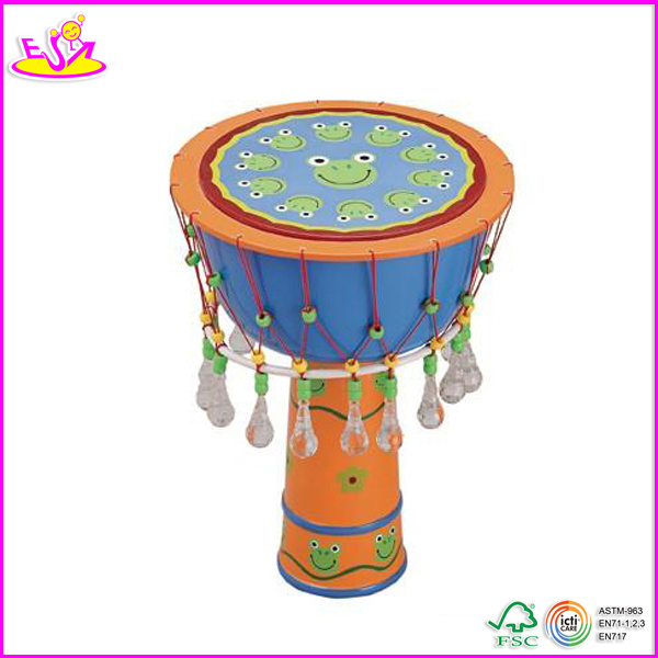 2014 Hot Sale Wooden Kids Drum Set, New Fashion Children Drum Set, High Quality Baby Wooden Drum Set W07j007