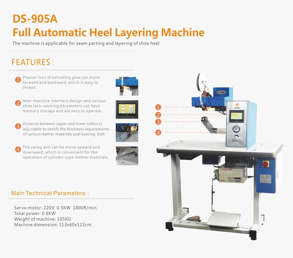 Full Automatic Heel Layering Machine