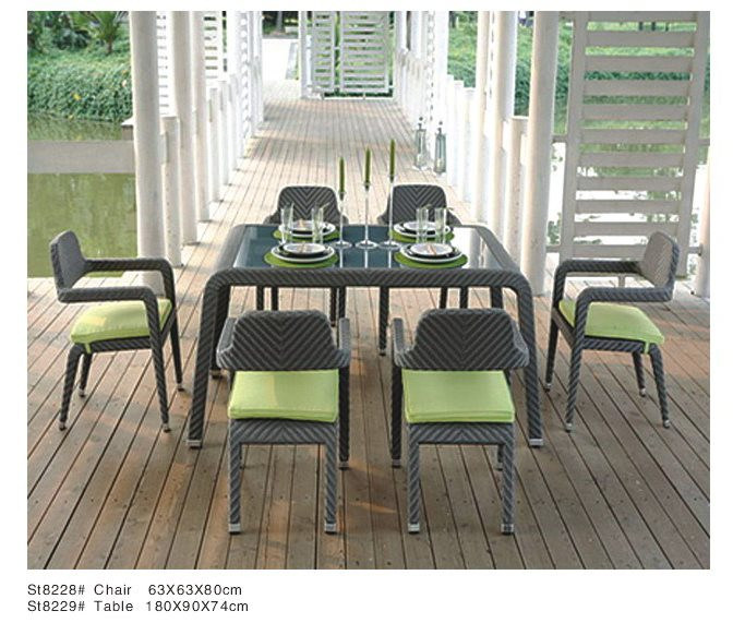 Modern Type Rattan Dining Table Set
