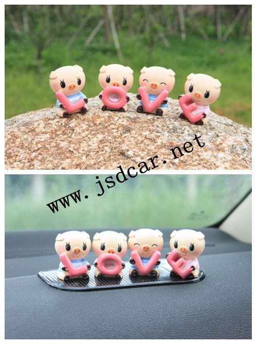 Car Interior Decoration Cute Little Pig Love (JSD-P0051)