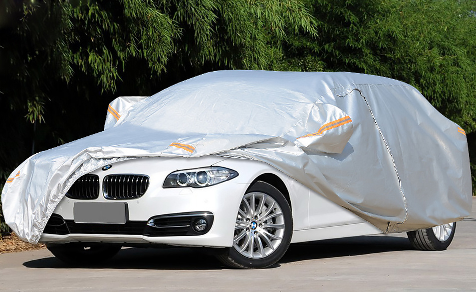 Advanced Quality Folding Silver PEVA Theftproof Waterproof Sunshade Car Cover for BMW