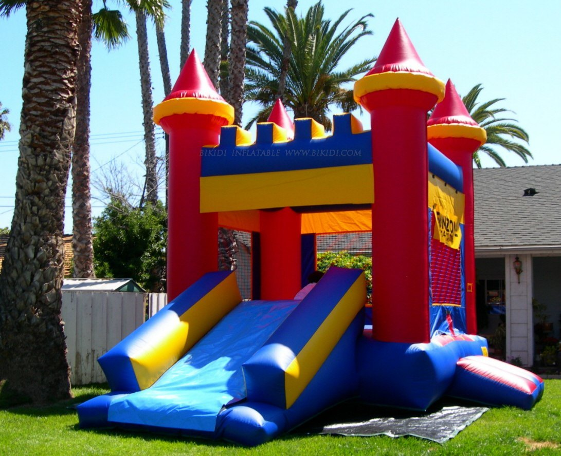 Hot Sale Inflatable Bouncer, Inflatable Castles with Slide (B1087)