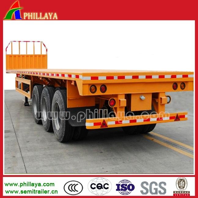 2-3 Axle Truck 50-60ton 40′ Container Flatbed Truck Semi Trailer