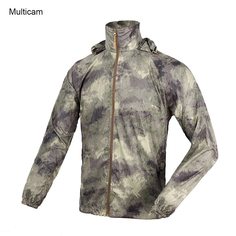 Tactical Windproof Coat outdoor Sports Fast Dry Breathable Hunting Clothes Military Training Uniform for Shooting Cl34-0063