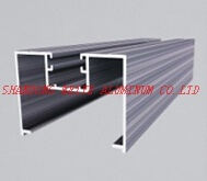 China Powder Coating Wood Grain Anodized Aluminium Extrusion Profile for Window Door Industry
