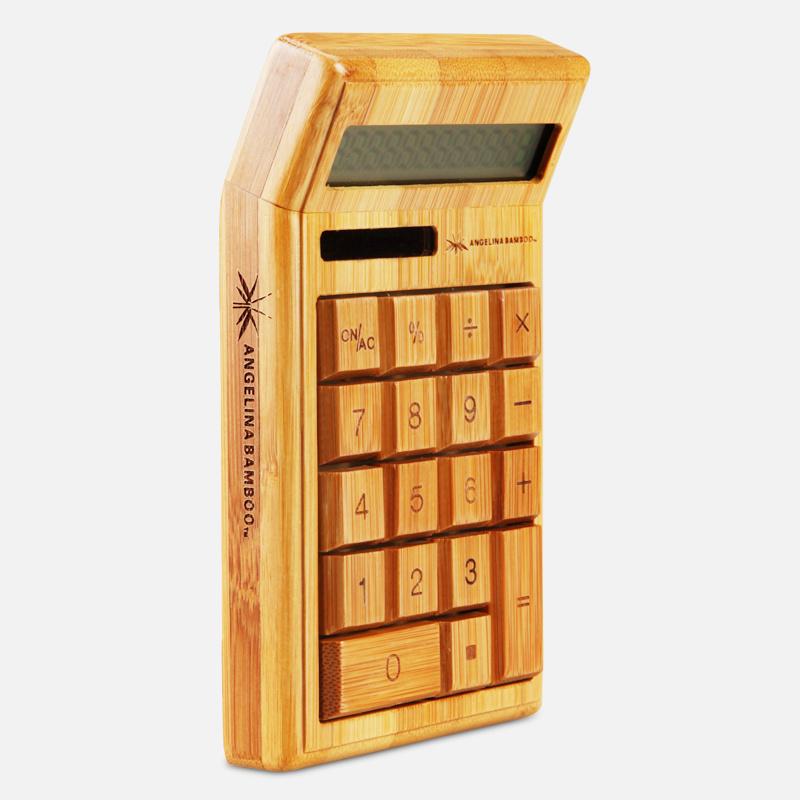 Bamboo Desktop Scientific Calculator with Solar Power