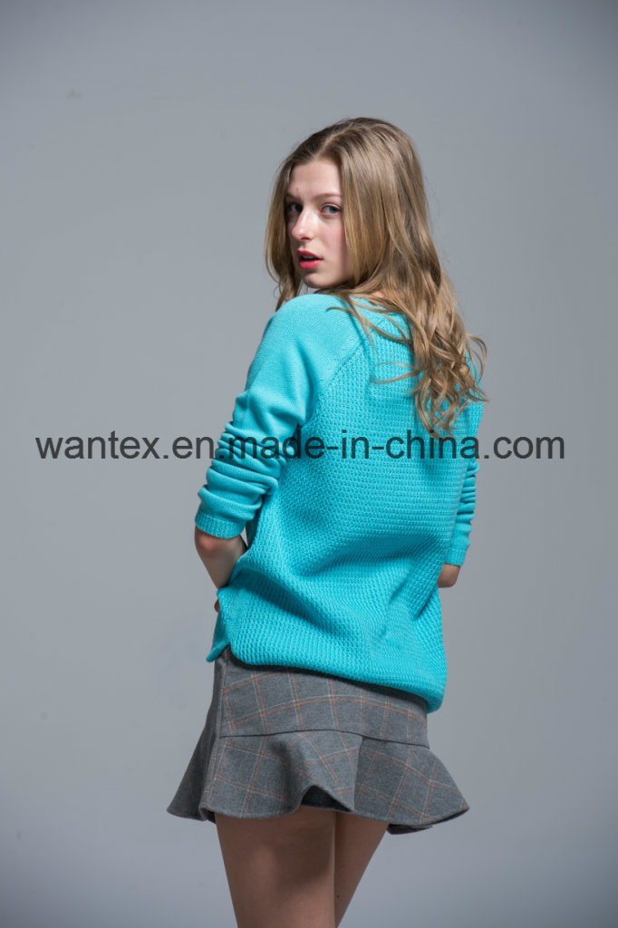 Ladies 100% Acrylic Sweaters Fashionable Knitted Tops Knitted Sweaters