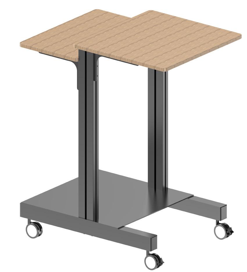a/V Mobile Cart for Alu. Profile Shelf Adjustable (MB 002)