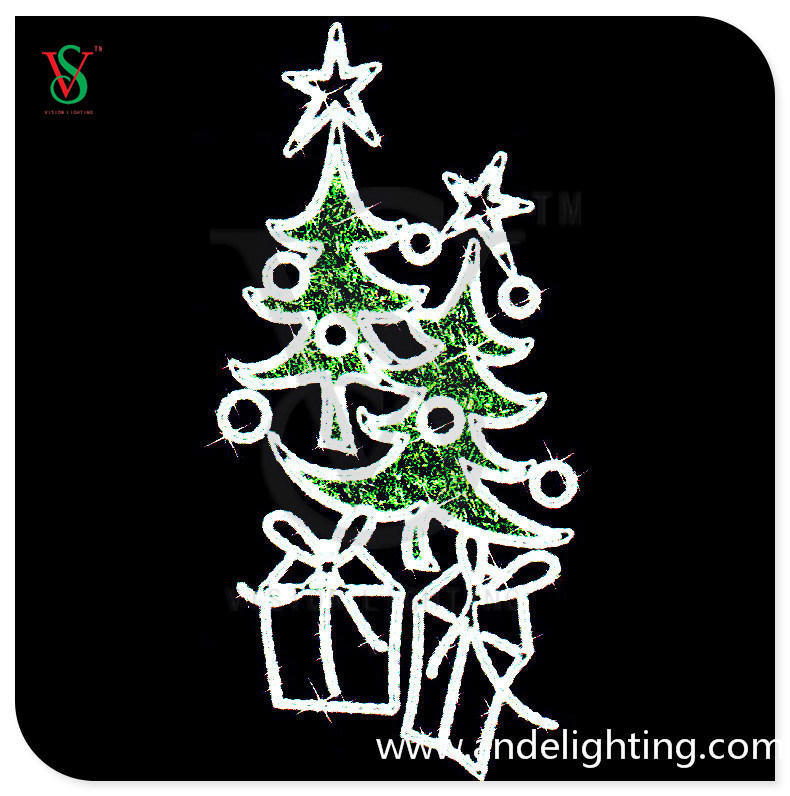Christmas Tree Light Christmas Gift Light for Pole Decoration for Street Decoration