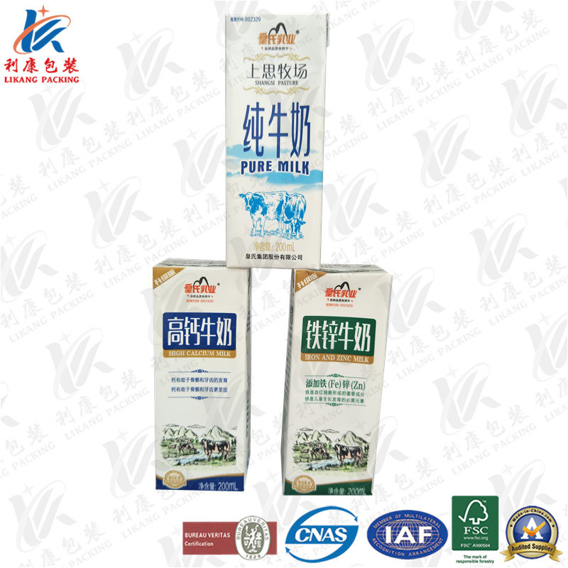 200ml Slim Aseptic Packaging Paper for Juice
