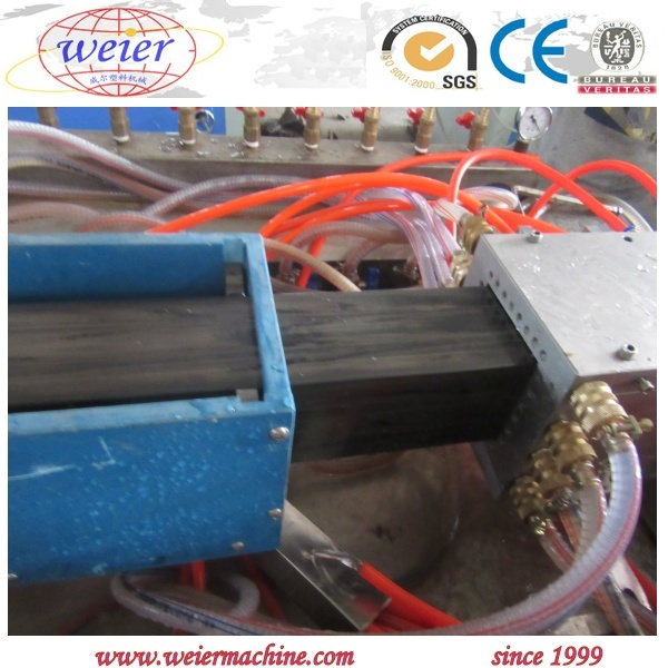 WPC PE Wood Plastic Profile Extruding Machine with High Output