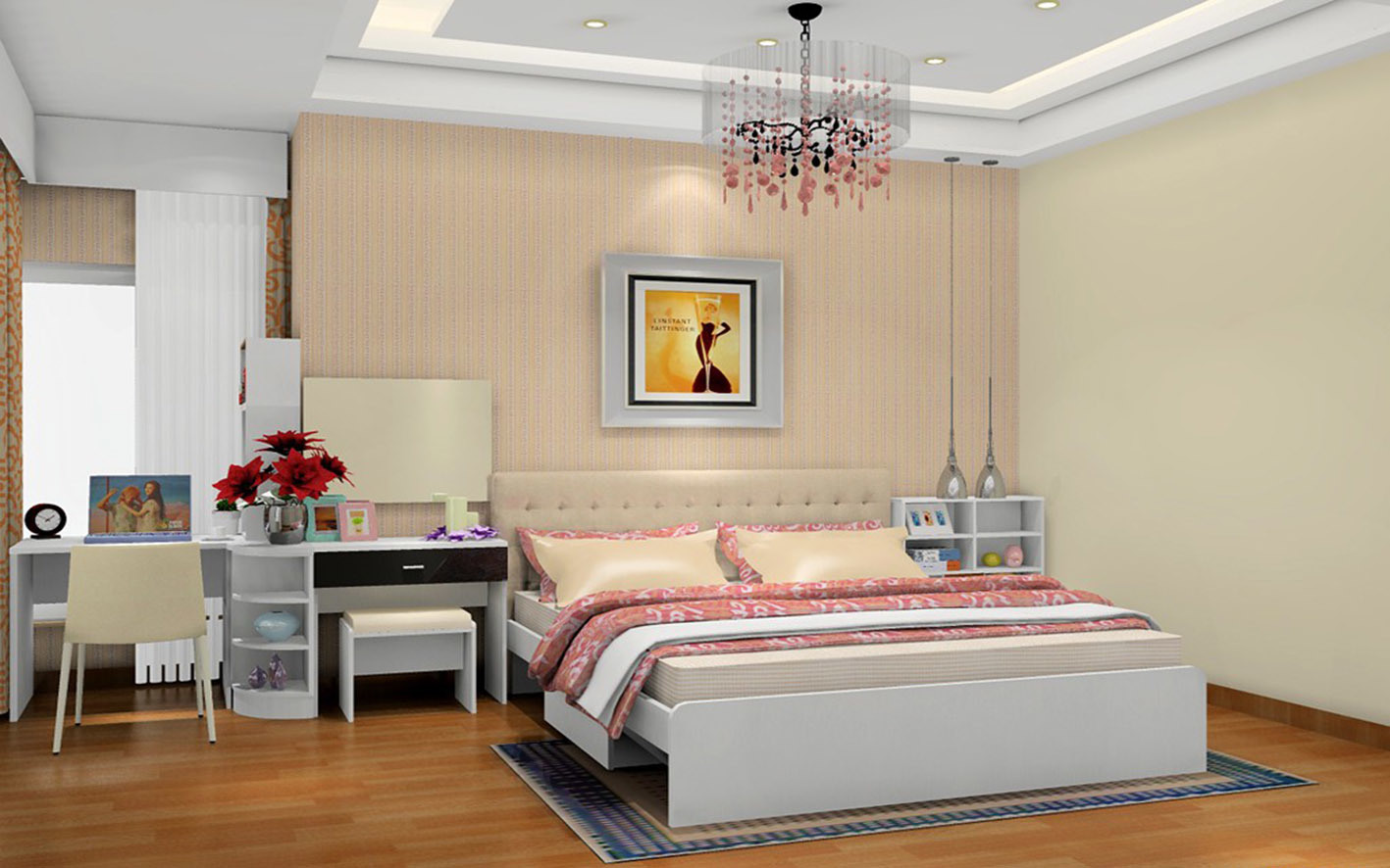 Glossy White Wood Wardrobe for Hotel Furniture (zy-022)