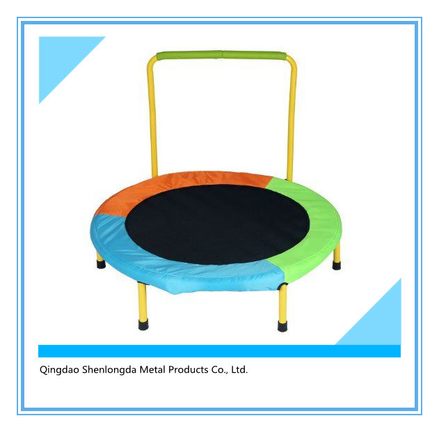 Foldable 40-Inch Diameter Fitness Trampoline with Stability Bar