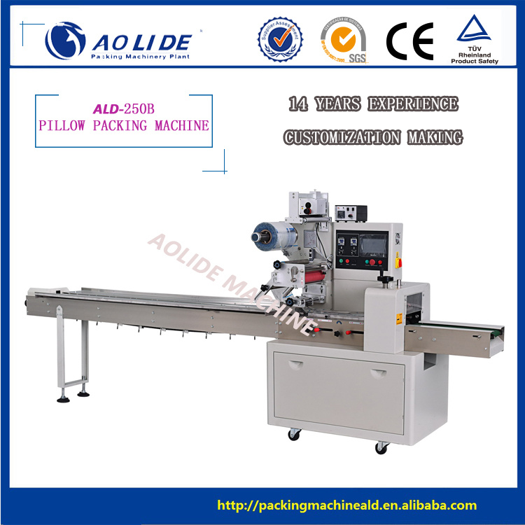 Fast Automatic Small Cake/Cookies/French Bread/Chocolates Pillow Packing Machine