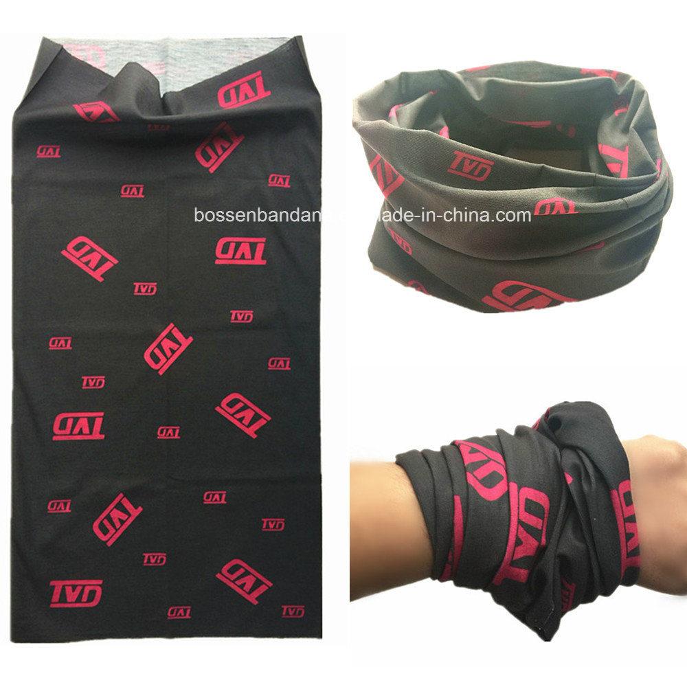 Factory OEM Produce Polyester Microfiber Custom Black Multifunctional Headwear Scarf