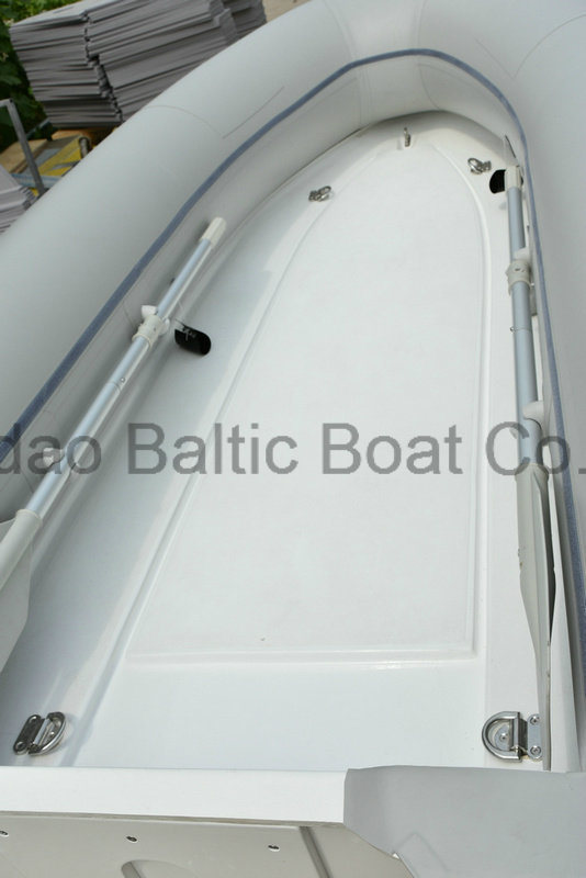 Dinghy Yacht Rib Rigid Fiberglass Speed Fishing Inflatable Motor Tender Boat with Cover for Yacht 3.3 Meters