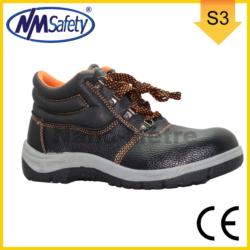 Nmsafety Cheapest Steel Toe Cap Synthetic Leather Safety Footwear