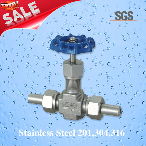Threaded 5000psi Stainless Steel Needle Valve, Stainless Steel J23W Needle Valve