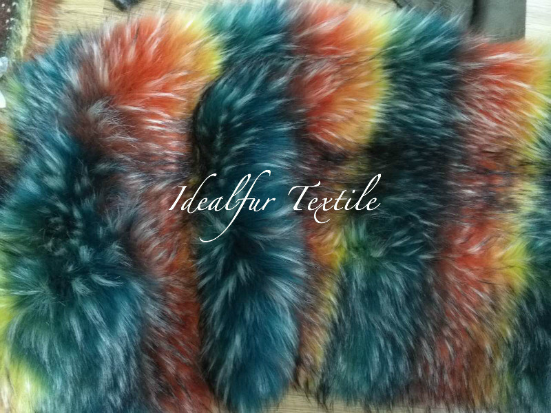 Artificial Fur /Multicolor Racoon Fake Fur for Garment