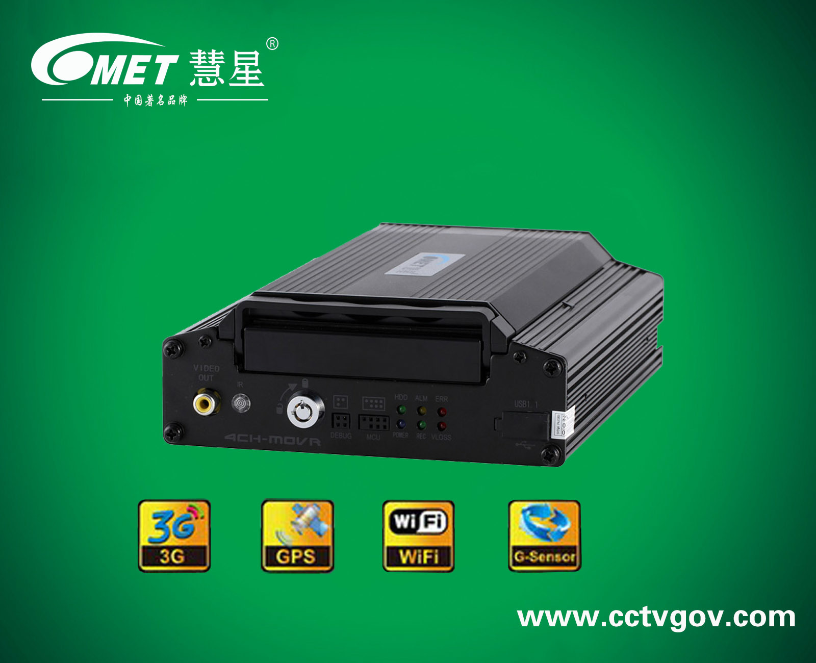 H. 264 Network DVR with 3G GPS WiFi Function