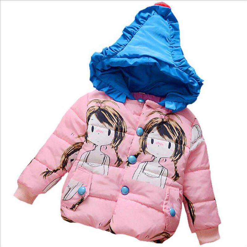 Girl Long Cotton Coat for Kids Clothing