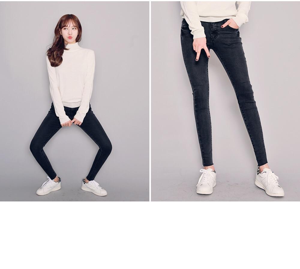 2017 New Lady′ S Cotton Stretch Denim Jeans