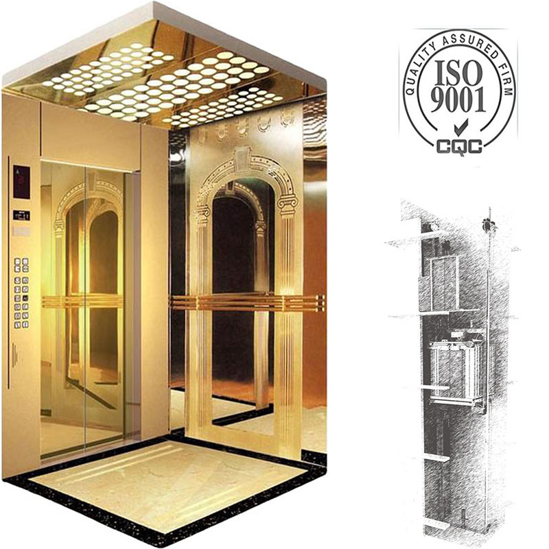 Machine Roomless Passenger Elevator with Monarch Integrated Controller