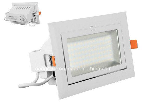 40W LED Rectangular Down Light with Flexible Lighting Angle