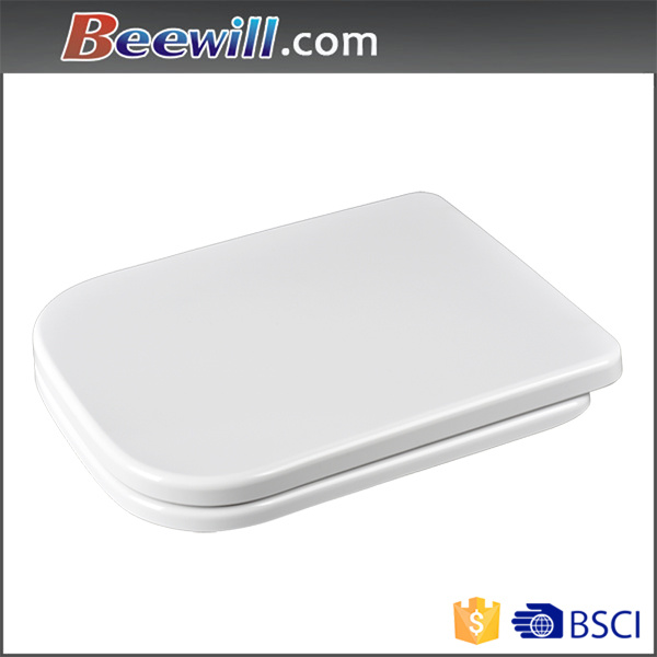 European Standard Square Shape Urea Soft Closing Toilet Seat Cover